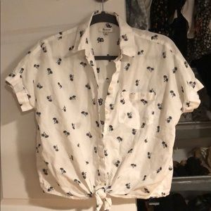 Madewell palm tree shirt, xsmall